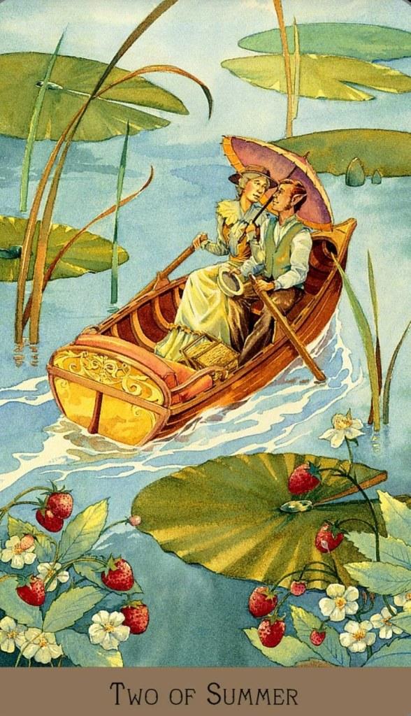Victorian Fairy Tarot/Two of Summer
